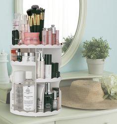 Rotating Makeup Organizer, Adjustable Multi-Function Cosmetic Storage Unit - 11 Best Bathroom Accessories