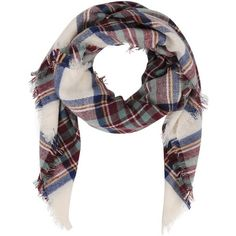Armitage Avenue Square Shaped Plaid Scarf ($29) ❤ liked on Polyvore featuring accessories, scarves, combo, plaid shawl, tartan scarves, tartan plaid scarves, plaid scarves and tartan shawl