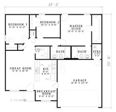 First Floor Plan of European   Small House Plan Ranch Home, Home Plans, Floors Plans, Ranch House, First House, Plans Design Service, Floor Plans, Small House Plans With Garage, Small House Plans 3 Bedrooms