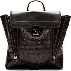 3.1 Phillip Lim Black Turtle Shell Pashli Backpack