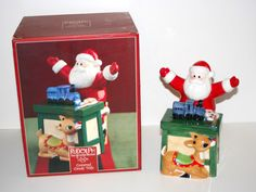 "2002 Lenox Rudolph The Red Nosed Reindeer 9"" Tall Covered Candy Dish and Box 