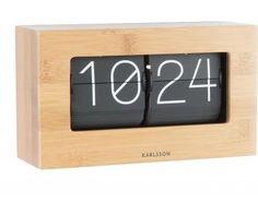 Flipklok Boxed - medium - 11x21cm - bamboe - Karlsson