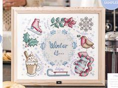 Winter Sampler by Durene Jones The World of Cross Stitching  Issue 249 December 2016 Zinio Saved