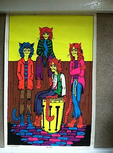THE-CATS-BEATLES-VINTAGE-BLACKLIGHT-POSTER-FROM-1969 by Jill Wiley
