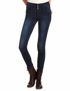 high waist dark wash skinny jean  CharlotteRusse