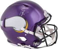 Stefon Diggs Minnesota Vikings Autographed Riddell Speed Pro-Line Helmet f312a3a44