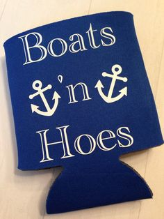 Boats 'n Hoes Funny Beer Koozie Father's Day by TheSillyGooseShop