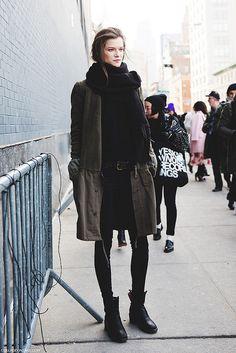 New_York_Fashion_Week-Street_Style-Fall_Winter-2015-MOdel_PArka- by collagevintageblog, via Flickr