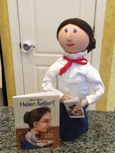 My Daughter's Third Grade Biography Bottle Buddy Book Report - Helen Keller