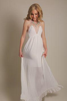 Beatrice Halter White Maxi Dress – Morning Lavender