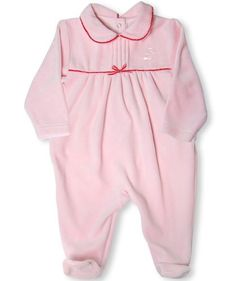 Leveret Velour Footed One Piece Coverall Romper 318 Months 12 Months Dark Pink