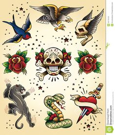 swallow tattoo flash - Google Search