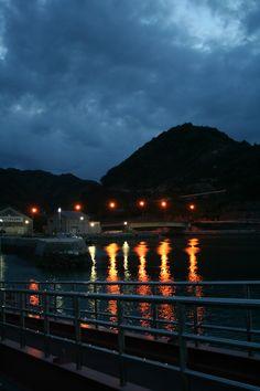Yutaka-machi of night.