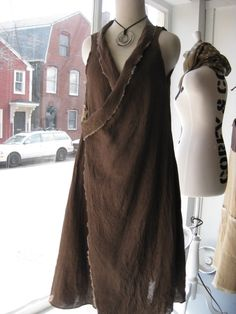 simple linen wrap tunic