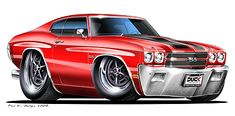 Madd Dogg's Muscle Car Art | Vinyl Top- None White Black Body Style- Hardtop Convertible
