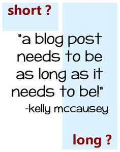 How Long Does A Blog Post Need To Be?