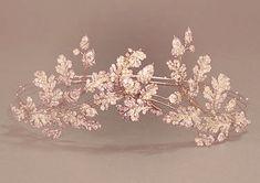 Rose gold flower crown Cute Jewelry, Hair Jewelry, Bridal Jewelry, Jewlery, Wedding Accessories, Hair Accessories, Crown Aesthetic, Crystal Crown, Bridal Crown