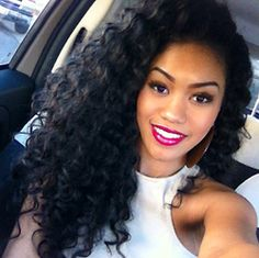 this is exactly how i want my natural hair to curl! mine is a tiny bit wavier