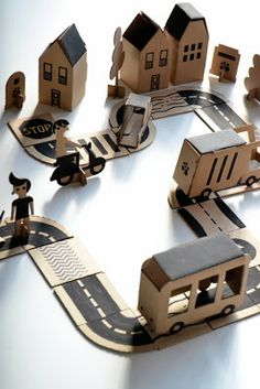 DIY cardboard play city