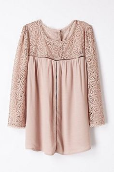 lace cloaked blouse