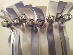 125 Twirling Wedding Wand Ribbon Bell Streamers by DivinityBraid