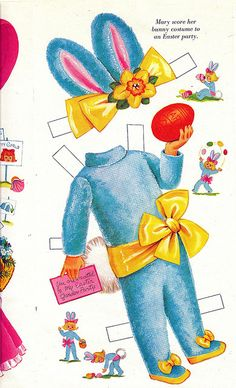 bunny outfit paper doll
