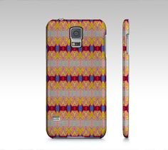 "Samsung Galaxy S5 "" Pretty Yellow Red Ribbons Pattern"" by Bright Vibes Design"