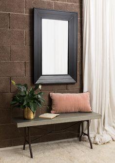 Farmhouse Mirrors, Galvanized Steel, Oversized Mirror, Bench, Interiors, Furniture, Home Decor, Decoration Home, Room Decor