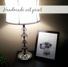 Check out these easy DIY dictionary art prints on The Dane Dame - they would make great Christmas gifts :)