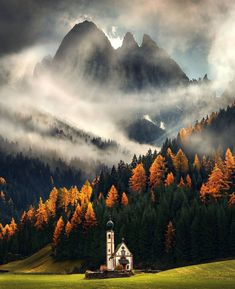 The Dolomites during an autumn afternoon