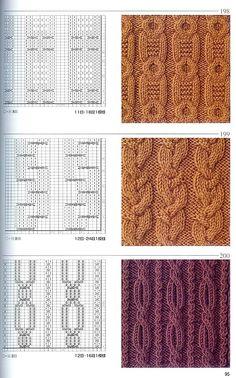 Японская книга узоров (спицы) 198-200