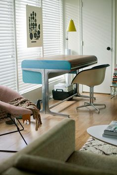eames la fonda arm chair george nelson for herman miller action office 1 rolltop desk from the finished in light blue and the tambour top is a walnut action office 1 desk