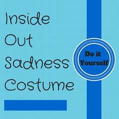 You don't need to feel blue when you dress up in this Inside Out Sadness Costume from Disney Pixar covering her hair, clothing, glasses and face paint.