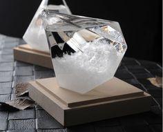 Diamond Shape Storm Glass Weather Forecast Bottle Crystal