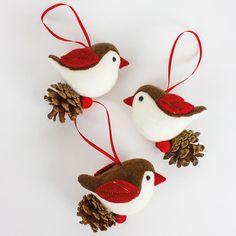 pinecone birds | Home > Pinecone birds Christmas decorations