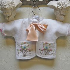 Infant Baby Girl Linen Jacket by JackieSpicer on Etsy