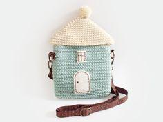 Le sac de Cosy Home couleur menthe au crochet par meemanan sur Etsy