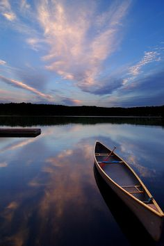 Canoe and Sunset by Peter Bowers, via Flickr