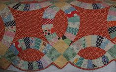 double wedding ring quilt | Great-Grandmother's Quilt--Red Double Wedding Ring | Flickr - Photo ...