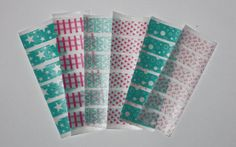 Teal & Pink Washi Tape Stickers for your Erin Condren Life Planner. Planning accessories.