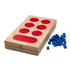 IKEA - LATTJO, Kalahaspel, Spelletjes doen ontwikkelt het logisch denkvermogen van je kind, evenals winnen, verliezen en op je beurt wachten.