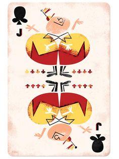 Disney Playing Cards Jack of Clubs-Inspired by Tweedle Dee and Tweedle Dum/Alice in Wonderland