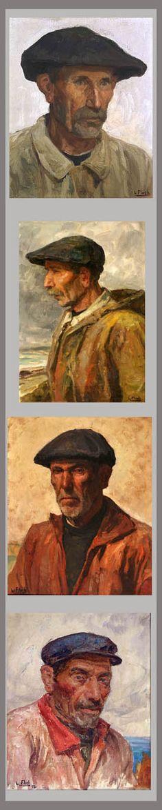 Portrait d'un marin pecheur de bretagne - Lionel FLOCH (1895 - 1972)