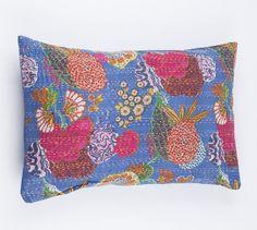 Kissenbezug 20 x 30 Sham  schöne Blau Blumenmuster von gypsya, $32.00