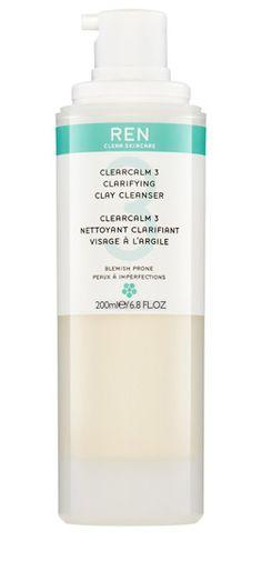 CLARIFYING CLAY CLEANSER (150 ml)  Eine tiefenreinigende, antibakterielle Reinigung die Hautunreinheiten und Akne bekämpft und die Haut sichtbar klarer, reiner und beruhigter hinterlässt. Wirkt entzündungshemmend und entfernt überschüssigen Talg. Die Porengröße wird verringert. http://www.best-kosmetik.de/marken/ren-clean-skincare/reinigung-peeling/clarifying-clay-cleanser.html