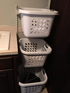 An updated new laundry room and steps I took to make a small space work with all the things I needed. Laundry Room Remodel, Basement Laundry, Unfinished Laundry Room, Small Basement Bedroom, Basement Remodeling, Basement Ideas, Small Basements, Plastic Laundry Basket, Small Spaces