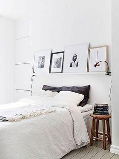 picture shelf headboard
