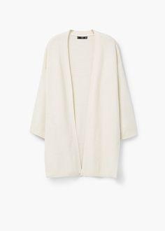 Cardigan tessuto morbido cotone | MANGO