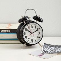 London Alarm Clock - Black  Classic style from @westelm