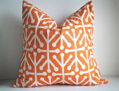 Decorative Pillow Cover In Jackstone Orange  - Front And Back, Available In All Sizes, Decorative Pillow Covers, Throw Pillow,Pillows